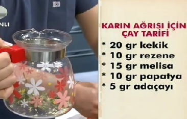 """""""Karin ağrisi için çay tarifi"""""""