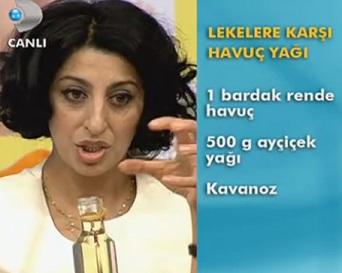 """""""Şems Arslan Cilt lekelerine karşı havuç yağı"""""""