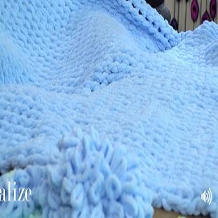 Hazır İlmekli İplikle Burgu Tekniği ile Bebek Battaniyesi yapımı Tülin İriş
