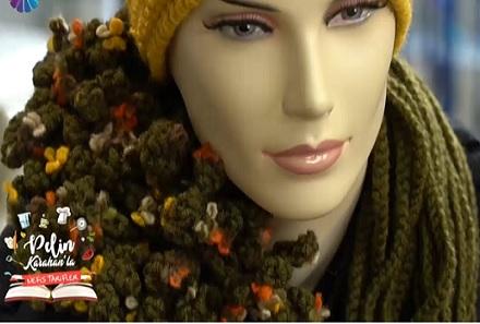 Pelin Karahan Tülin İriş Çiçekli İplik ve Düz İplikle Boyunluk Yapımı