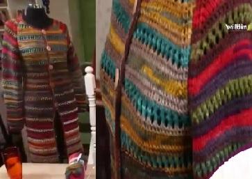 Nurselin Evi Onlarca Renkten Yapılan Hırka Modeli Tülin İriş