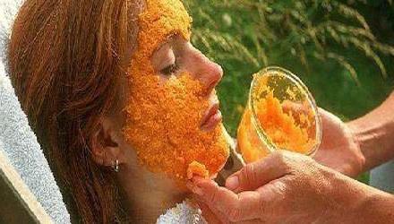 Sivilce izleri Ve Yaşlanmayı Önleyen Portakal Maskesi