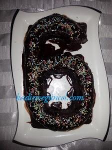 """""""Mozaik pastadan rakamlı doğum günü pastası"""""""