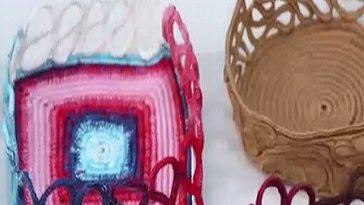 Nurselin Evi Tülin İriş Kare Sepet Yapımı